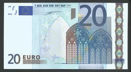 "Greece  ""Y""  20 EURO GEM UNC! DUISENBERG Signature Printer N001A1!! - 20 Euro"