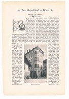 245 Hoffmann Das Batzenhäusl Zu Bozen Artikel Mit Bildern Von 1897 !! - Zeitungen & Zeitschriften