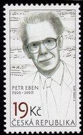 Czech Republic - 2019 - Personalities - Petr Eben, Czech Composer - Mint Stamp - Tchéquie