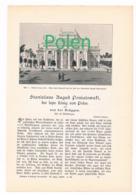 246 Stanislaus Der Letzte König Von Polen Artikel Mit Bildern Von 1897 !! - Historische Dokumente