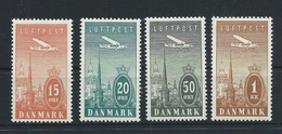Denmark, Michel-No. 218-221 , Unused With Hinge    (as Per Scans) LH - Neufs