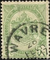 "COB   56  (o) Oblitération ""Wavre"" T1L - 1893-1907 Armoiries"