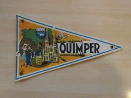 Fanion Touristique France QUIMPER (vintage Années 60) - (Vaantje - Wimpel - Pennant - Banderin) - Obj. 'Souvenir De'