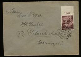 WW II DR 15 Pfg Frauenwerk Oberrand EF Auf Briefumschlag: Gebraucht PLZ 13b Vilshoven - Gotenhafen 1944, Bedarfserhalt - Briefe U. Dokumente