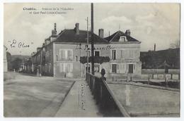 CPA 89 Yonne Chablis Rare Rue De La Maladière Et Quai Paul Louis Courrier Près De Auxerre Tonnerre Venoy Fleys - Chablis
