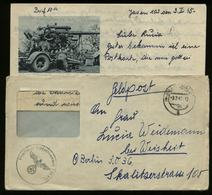 Propaganda : DR Feldpost Brief Mit Flak Bild , Endzeitbeleg: Gebraucht FP 16333 Mit PLZ 4 Greifswald Stempel - Berlin - Germany