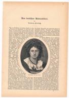 253 Aus Deutschen Malerateliers Artikel Mit 17 Bildern Von 1886 !! - Pintura & Escultura