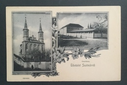 RAR Litho AK Satu Mare Szatmar In Siebenbürgen Gelaufen 1907 - Rumänien