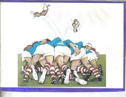Carte Postale Rugby  La Mélée Par SERRE Illustrateur   Très Beau Plan - Rugby