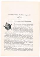 256 E. W. Bredt Künstler Der Alpen 3 Artikel Mit Vielen Bildern 141 Seiten !! - Pintura & Escultura