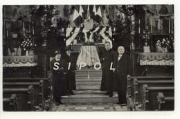 Baptême D Une Cloche à Biederthal Intérieur D église Avec Prêtre Marraines &  Parain - Religion & Esotericism