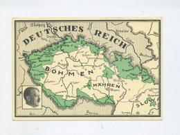 1938 3. Reich Farbkarte Sudetenlandanschluss Ein Volk, Ein Reich, Ein Führer Befreiungsstempel Breitenbach - Sudetenland