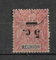 Timbre De Réunion  De 1901 N°53a (surcharge Renversée)  Oblitérés Cote 70€ - Reunion Island (1852-1975)