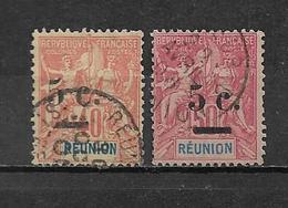 Timbre De Réunion  De 1901 N°52 Et 53  Oblitérés - Reunion Island (1852-1975)