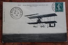 NICE (06) - MEETING D'AVIATION 1910 AVEC VIGNETTE AU DOS - Transport Aérien - Aéroport