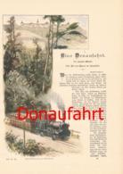 259 Conrad Alberti Donaufahrt 3 Artikel Mit Vielen Bildern 1894 !! - Historische Dokumente
