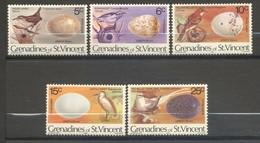 Saint-Vincent & Grenadines, Yvert 190/194, Réimpression, Reprint, 1980, MNH - St.Vincent & Grenadines