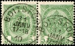 """COB   83  (o) Oblitération """"Boitsfort"""" T1L  En Paire - 1893-1907 Armoiries"""