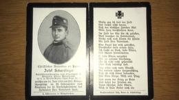 Sterbebild Wk1 Ww1 Bidprentje Avis Décès Deathcard KUK Tiroler Kaiserjäger Regt. 1 14. Juni 1916  Kinzlberg Münzkirchen - 1914-18