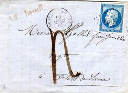 Lettre De Motagne S Huine Le 10/0361  Pc 2160 Taxe à 4 D. Aff. Insuf      TB - Marcophilie (Lettres)