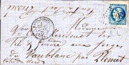 Lettre De Napoléonville  Le 16/01/71 20 C Bordeaux Type I (def) - Marcophilie (Lettres)