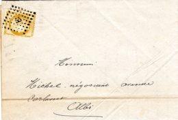 Lettre D' Albi Pour Albi  1971  55 Petit Chiffre Du Gros Dhiffre - Marcophilie (Lettres)