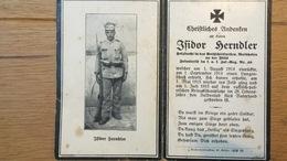 Sterbebild Wk1 Ww1 Bidprentje Avis Décès Deathcard KUK IR49 Russisch Polen 1. Juli 1915 Aus Waidhofen - 1914-18