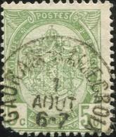 """COB   83  (o) Oblitération """"Gaurain-Remoncroix """"T1L - 1893-1907 Armoiries"""
