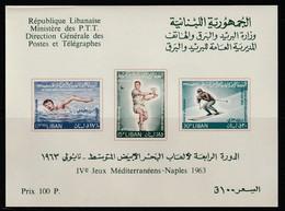 LIBAN - BLOC N° 14 ** (1963) 4e Jeux Sportifs Méditerranéens - Liban