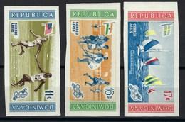 République Dominicaine, Poste Aérienne, Non Dentelé, N° 129 à 131 ** TB ( Jeux Olympiques De Melbourne ) - Dominicaine (République)