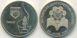 DDR Medaille, Halle, FDJ Nationales Jugendfestival Der DDR 30 Jahre - Allemagne