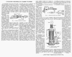 L'UTILISATION INDUSTRIELLE Du CHARBON PULVERISE  1916 - Technical
