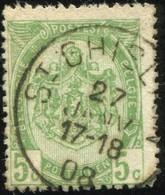 "COB   83  (o) Oblitération ""St Ghislain"" T1L - 1893-1907 Armoiries"
