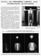 LES PHENOMENES LUMINEUX ACCOMPAGNANT LES EXPLOSIONS  1939 - Techniek