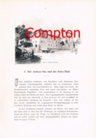 272 E.T.Compton Iseretal Annecy-See Grenoble Artikel Mit 2 Bildern 1896 !! - Francia