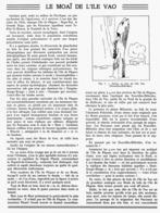 """LE """" MOAÏ """" De L'ILE VAO  1939 - Archéologie"""