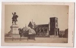 CDV Photo Originale XIXème Album Famille Davy CHERBOURG  Statue Napoléon Par Rideau Cdv 2607 - Photos