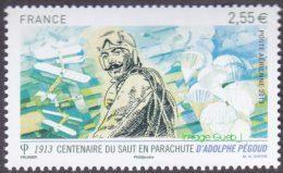 France N° PA  76 ** Poste Aérienne - Adolphe Pegoud -> Centenaire Du Premier Saut En Parachute - 1960-.... Postfris