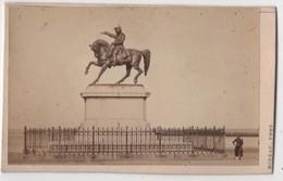 CDV Photo Originale XIXème Album Famille Davy CHERBOURG  Statue Napoléon Par Rideau Cdv 2608 - Photos