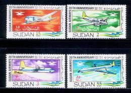 SUDAN / 1968 / AIRPLANES / MNH / VF . - Soudan (1954-...)