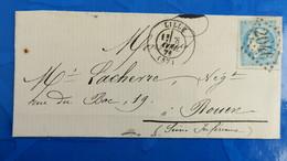 Bordeaux 20 Ct Bleu Sur Lettre De Lille 1871 Pour Nuance Type Variété  Etc ...voir Photos - Postmark Collection (Covers)