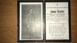 Sterbebild Wk1 Ww1 Bidprentje Avis Décès Deathcard KUK Kaiserschützen Regt. 3 Absturz 30. April 1917 Ciano Aus Karkham - 1914-18
