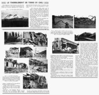 """LE TREMBLEMENT De TERRE Du CHILI Le 24 JANVIER  Destruction Des Villes De """"CONCEPCION Et CHILLAN """"    1939 - Chile"""