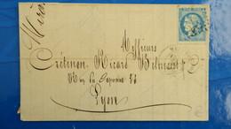 Bordeaux 20 Ct Bleu Sur Lettre De Mazamet Tarn Pour Lyon  1871 Pour Nuance Type Variété  Etc ...voir Photos - Marcophilie (Lettres)