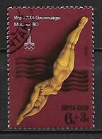 RUSSIE  /  URSS    -    NATATION  /  PLONGEON    -   Oblitéré - High Diving