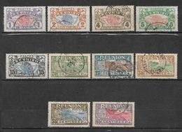 Colonie Timbre De Réunion De 1907/17  N°56 A 66 (sauf N°60)  Oblitérés - Réunion (1852-1975)