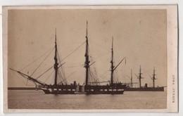 CDV Photo Originale XIXème Album Famille Davy CHERBOURG Marine Militaria Bateau Guerre Par Rideau Cdv 2613 - Photos