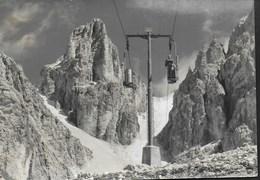DOLOMITI - TELECABINE DEL M. CRISTALLO- TIMBRO RIFUGIO LORENZI - VIAGGIATA 1966 - Alpinisme