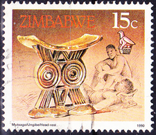 Simbabwe - Kopfstütze (Mi.Nr.: 424) 1990 - Gest. Used Obl. - Zimbabwe (1980-...)