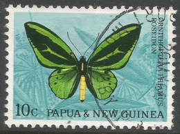 Papua New Guinea. 1966 Decimal Currency. Butterflies. 10c Used. SG 86 - Papouasie-Nouvelle-Guinée